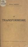 Etienne Rabaud - Le transformisme (1).