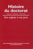 Etienne Roth - Histoire du doctorat - Des origines à nos jours.