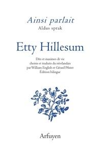 Etty Hillesum - Ainsi parlait Etty Hillesum.