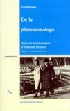 Eugen Fink - De la Phénoménologie.