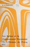 Eugène Gérard Poillon et M. Pontier - Les églises et la communauté paroissiale Saint-Thomas de Privas - Simple notice.