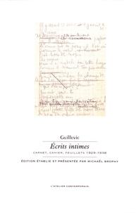 Eugène Guillevic - Ecrits intimes - Carnet, cahier, feuillets 1929-1938.