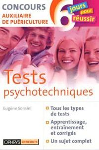Eugène Sonsini - Tests psychotechniques - Concours auxiliaire de puériculture.