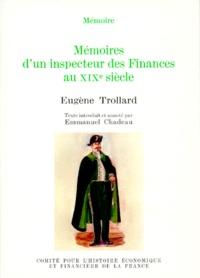 Eugène Trollard - Mémoires d'un inspecteur des finances au XIXe siècle.
