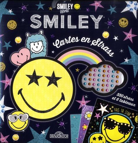 Cartes en strass Smiley. 550 strass et 6 tableaux