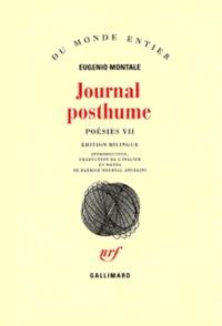 Eugenio Montale - Journal posthume - Tome 7, Poésies.