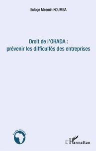 Euloge Mesmin Koumba - Droit de l'Ohada : prévenir les difficultés des entreprises.