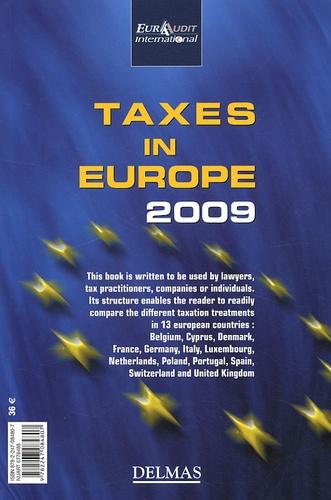 Eura Audit - Les impôts en Europe 2009 - Edition bilingue français-anglais.