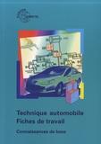 Europa Lehrmittel - Technique automobile - Fiches de travail - Connaissances de base.