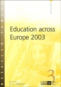 EUROSTAT - Education across Europe 2003.