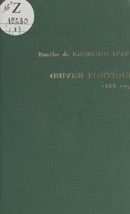 Eusèbe de Bremond d'Ars et Irénée d'Eu - Œuvre poétique, 1888-1958.