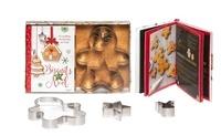 Eva Harlé - Biscuits de Noël - Coffret avec 3 emporte-pièce et 1 livret avec 20 recettes.