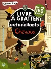 Eva Schindler - Livre à gratter avec autocollants Chevaux - Plus de 150 stickers.
