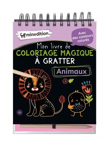 Mon Livre De Coloriage Magique A Gratter Animaux Avec Un Crayon En Bois Grand Format