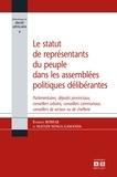 Evariste Boshab - Le statut de représentants du peuple dans les assemblées politiques délibérantes - Parlementaires, députés provinciaux, conseillers urbains, conseillers communaux, conseillers de secteur ou de chefferie.