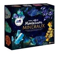 Eve Hermann et Marlène Normand - Mon coffret Montessori minéraux - Avec 1 améthyste, 1 lapis-lazuli, 1 livret, 1 carnet, 63 cartes.