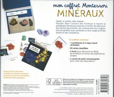 Mon coffret Montessori minéraux. Avec 1 améthyste, 1 lapis-lazuli, 1 livret, 1 carnet, 63 cartes