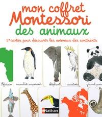 Eve Herrmann et Emmanuelle Tchoukriel - Mon coffret Montessori des animaux - 57 cartes pour découvrir les animaux des continents.