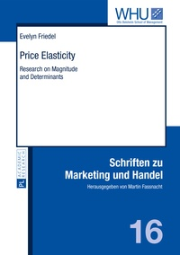 Evelyn Friedel - Price Elasticity - Research on Magnitude and Determinants.