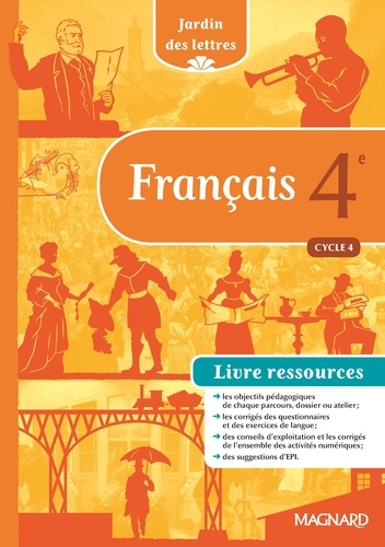 Francais 4e Cycle 4 Jardin Des Lettres Livre Ressources Grand Format