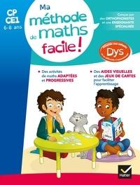 Evelyne Barge et Céline Cerciat - Ma méthode de Maths facile ! CP-CE1.