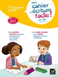 Evelyne Barge et Thomas Tessier - Mon cahier d'écriture facile ! adapté aux enfants DYS ou en difficulté d'apprentissage.