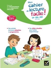 Evelyne Barge et Thomas Tessier - Mon cahier de lecture facile ! adapté aux enfants DYS ou en difficulté d'apprentissage.