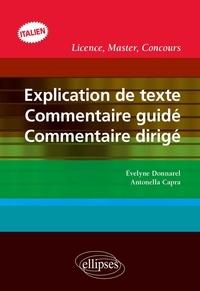 Deedr.fr Explication de texte, commentaire guidé, commentaire dirigé en italien Image