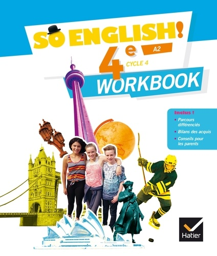Anglais 4e Cycle 4 A2 So English Workbook Grand Format