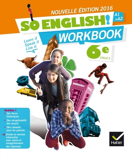 Anglais 6e A1 A2 So English Workbook
