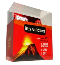 Evelyne Pradal - Les volcans - Coffret avec 1 volcan miniature.