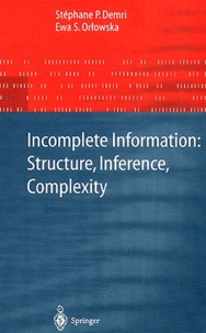 Galabria.be Incomplete Information: Structure, Inference, Complexity Image