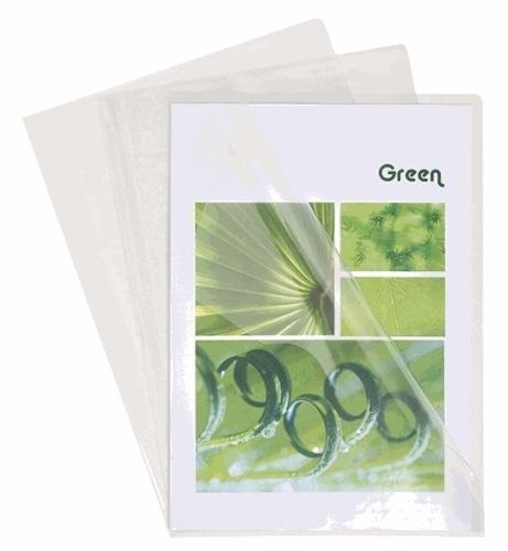 10 pochettes coin transparentes A4