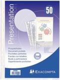 EXACOMPTA - 50 pochettes transparentes perforées A4