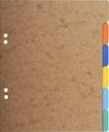 EXACOMPTA - 6 intercalaires en carton 17x22cm