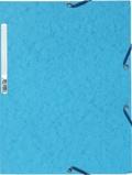 EXACOMPTA - Chemise à élastiques 3 rabats - bleu turquoise