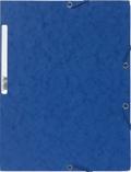 EXACOMPTA - Chemise à élastiques 3 rabats - bleu