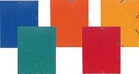 EXACOMPTA - Chemise à élastiques 3 rabats carte 17x22 cm - Coloris assortis