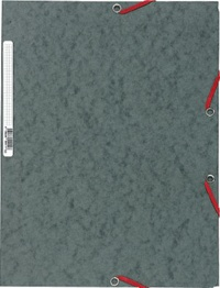 EXACOMPTA - Chemise à élastiques 3 rabats - gris