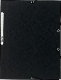 EXACOMPTA - Chemise à élastiques 3 rabats - noir