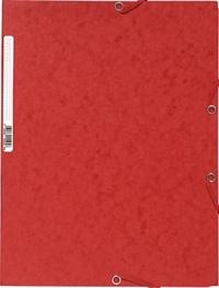 EXACOMPTA - Chemise à élastiques 3 rabats - rouge