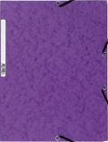 EXACOMPTA - Chemise à élastiques 3 rabats - violet