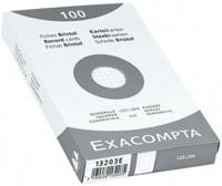 EXACOMPTA - Fiches Bristol non perforées - 125x200mm petits carreaux