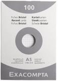 EXACOMPTA - Fiches Bristol non perforées - 148x210mm petits carreaux