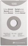 EXACOMPTA - Fiches Bristol non perforées - 75x125mm petits carreaux