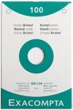 EXACOMPTA - Fiches Bristol perforées - 100x150mm petits carreaux