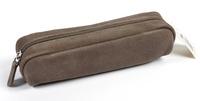 EXACOMPTA - Fourre Tout cuir plat suede 18.5 cm