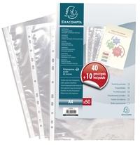 EXACOMPTA - Lot de 40 pochettes perforées + 10 gratuites - 21x29,7cm