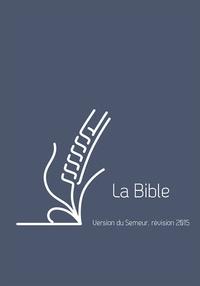 Excelsis - La Bible - Version du Semeur, révision 2015, couverture lin bleu avec tranche blanche.