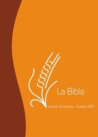 Excelsis - La Bible - Version du Semeur, révision 2015, couverture marron et orange avec tranche blanche.